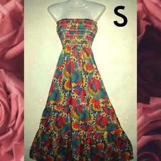 Vestido Estampado Floral. Talla S