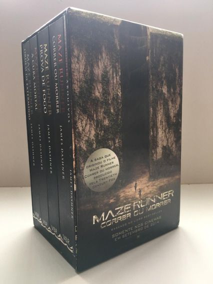 Box Maze Runner Edição Limitada Livro De Arquivos E Poster.
