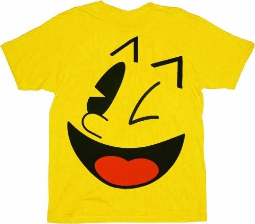 Camiseta Pac-man - Big Face Yellow - Muito Legais!