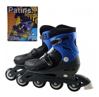 Patins Roller In-line 29-32 Criança Infantil 4 Rodas Em Gel