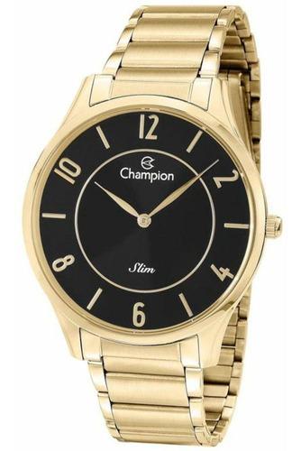 Relógio Champion Ca21759u Slim Unissex Dourado - Preto
