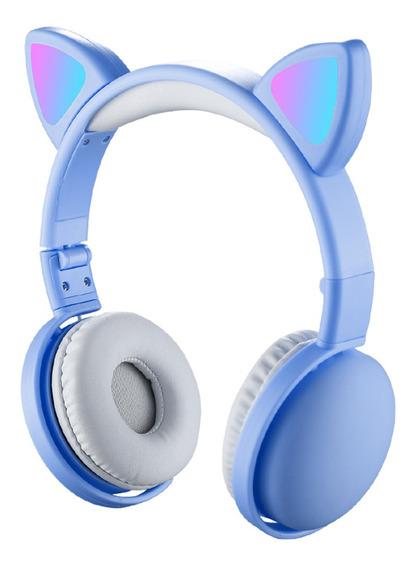 Led Fones De Ouvido Com Orelha De Gato Cor Rgb Bluetooth 5.0