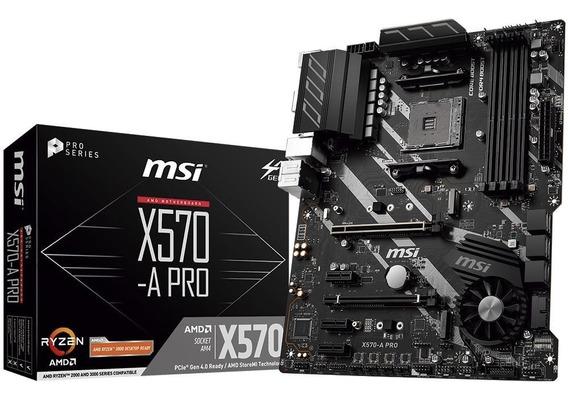 Placa Mae Msi X570-a Pro Amd Am4 Ddr4 Ryzen