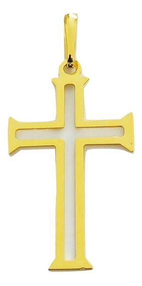 Pingente Rellicari Crucifixo Banhado A Ouro 18k R005