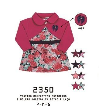 Vestido Bebê Com Bolero Alemara Molecotton Floral Cód: 960