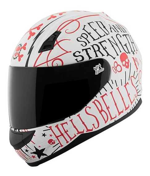 Casco Speed And Strength Ss700 Hells Belles Blanco Integral