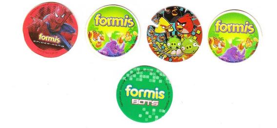 Lote De 5 Tazos O Cromos Formis Y De Angry Birds