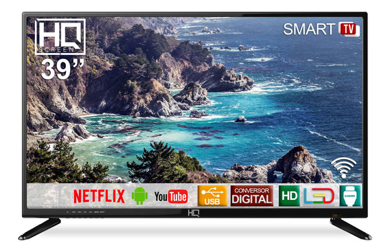 Smart Tv Led 39 Polegadas Hq Hd Hqstv39n Conversor Digital