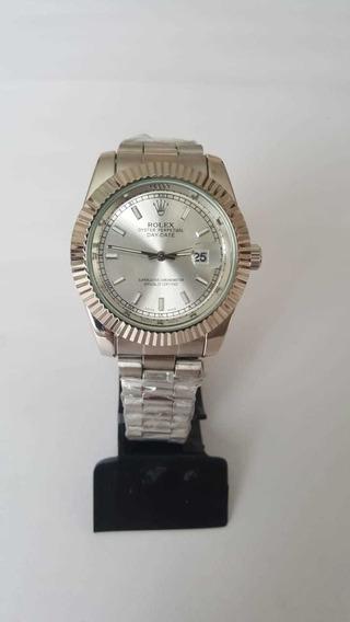 Relógio Pulso Masculino Quartzo Prata Caixa Branca 40mm
