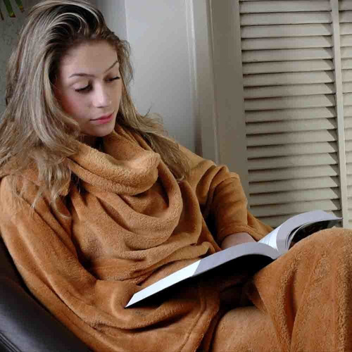 Cobertor Com Mangas Marrom 160x130cm 10071074