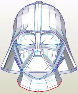 Darth Vader - Casco - Star Wars - Patrones Plantillas