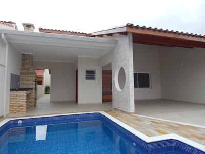 Casa Nova Com Piscina No Balneário Oásis Em Peruíbe À Venda.