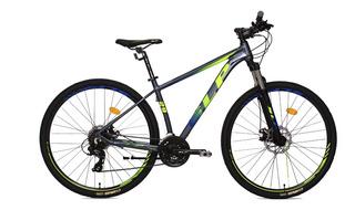 Bicicleta Mountain Bike Rodado 29 Slp 200 Cambios Shimano Frenos A Disco Llanta Doble Pared Suspension Varon Mujer Hb