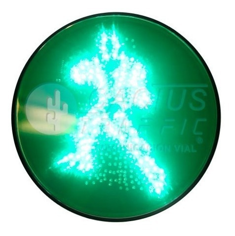 Imagen 1 de 3 de Semáforo Peatonal Dinámico Rojo-verde En Misma Lámpara (led)