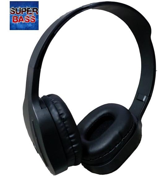 Fone De Ouvido Bluetooth Pret S Fio Rádio Fm Cartãosd Stere