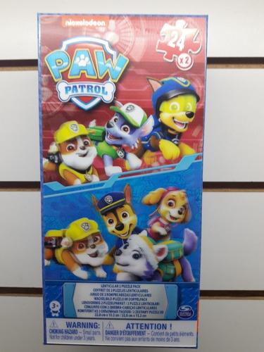 Imagen 1 de 2 de Puzzle Paw Patrol 3d X24 X2 Sobre Ruedas Juguetes