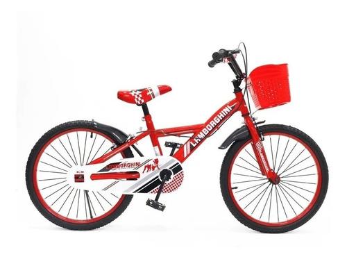 Bicicleta Rodado 20 Varon Nena C/canasto Lamborghini @mca