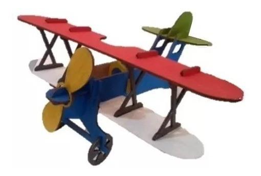Kit 4 Avião Lembrança Aniversario - Montados E Pintados