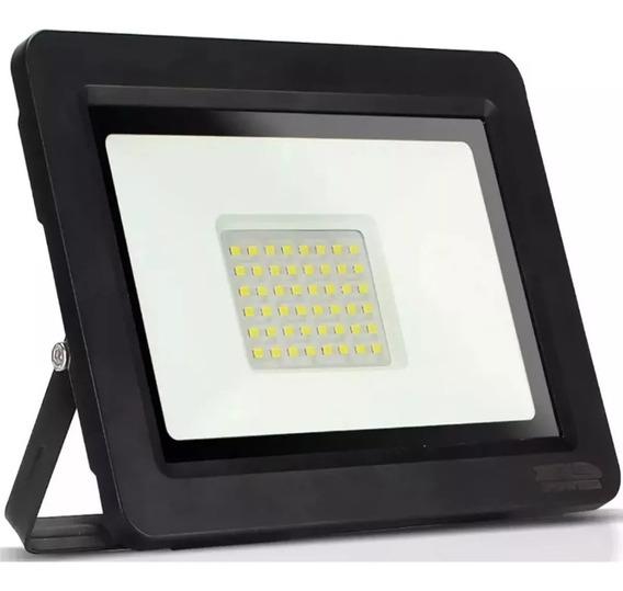 Holofote Refletor Super Led 50w Bivolt Bco Frio Prova Dagua