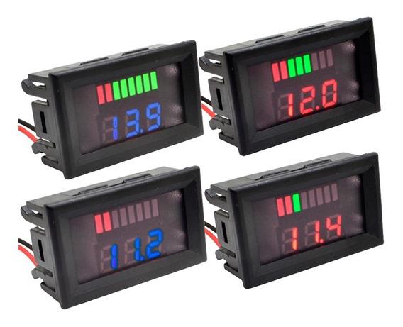 Voltímetro 12v Led Dc Medidor Bateria Som Automotivo Moto