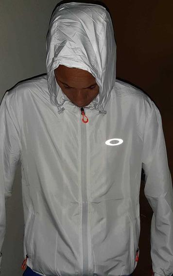 Blusa Jaqueta Oakley Corta Vento Frete Gratis Branco E Preto