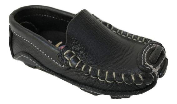 Zapato Mocasin Nautico 2052 Class Niño Negro Piel Class Cone