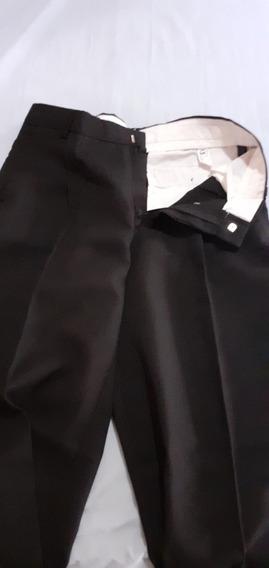 Pantalón De Vestir Hombre Negro Tropical Mecánica Clásico