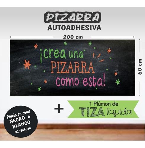 Pizarra Adhesiva 200x 60 Cm -gratis  Plumon Tinta Liquida
