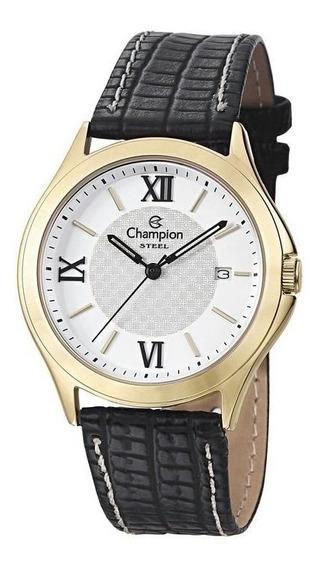 Relógio Champion Clássico Pulseira De Couro Ca20456b