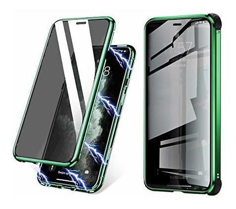 Estuche De Absorcion Magnetica Para iPhone X Con Protector D