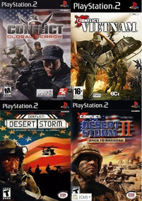 4 Patchs Ps2 - Conflict Series Collection