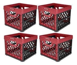 4 Piezas Clevermade Plegable Caja D Almacenamiento Multiusos