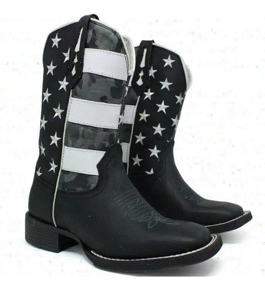 Bota Texana Bordada Ttc Usa