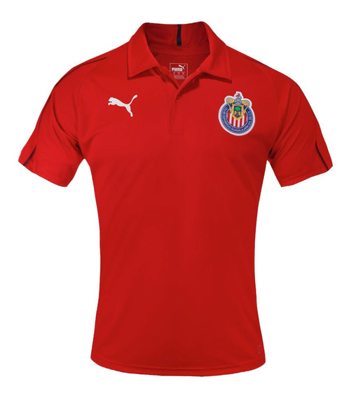 Puma Playera Polo Chivas Para Hombre Roja 753690 02