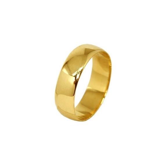 Aliança Casamento Ouro Amarelo 18k - 6mm - Código 1739