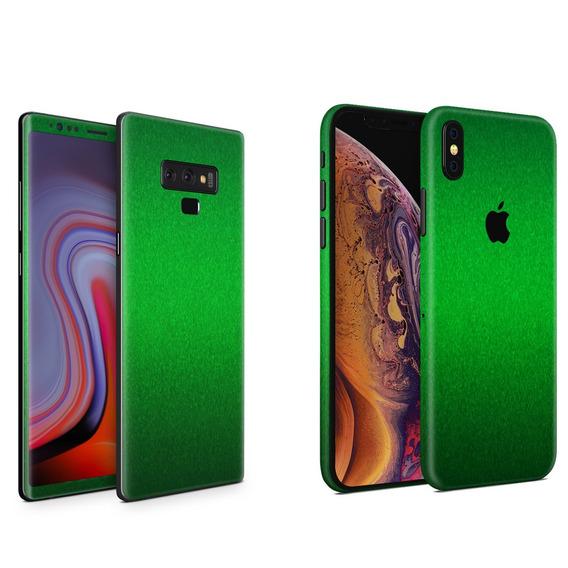 Skin Verde Metalico Apple Samsung Huawei Lg Sony Xiaomi Etc