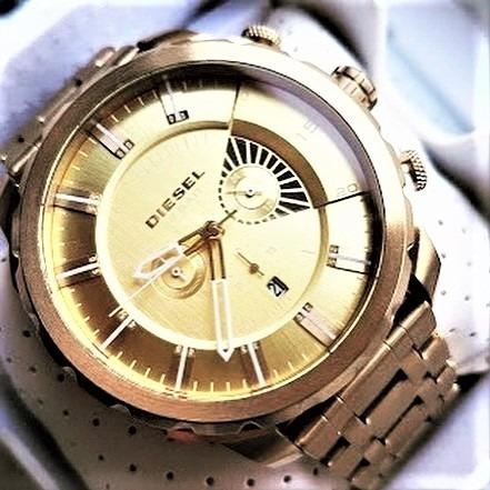 Relógio Diesel Dz4376 Masculino Aço Dourado Frete Gratis