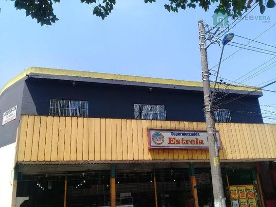 Salão Para Alugar, 320 M² Por R$ 4.500/mês - Jardim Oliveiras - Taboão Da Serra/sp - Sl0071