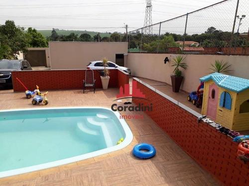 Chácara Com 3 Dormitórios À Venda, 625 M² Por R$ 420.000 - Chácara Recreio Cruzeiro Do Sul - Santa Bárbara D'oeste/sp - Ch0091