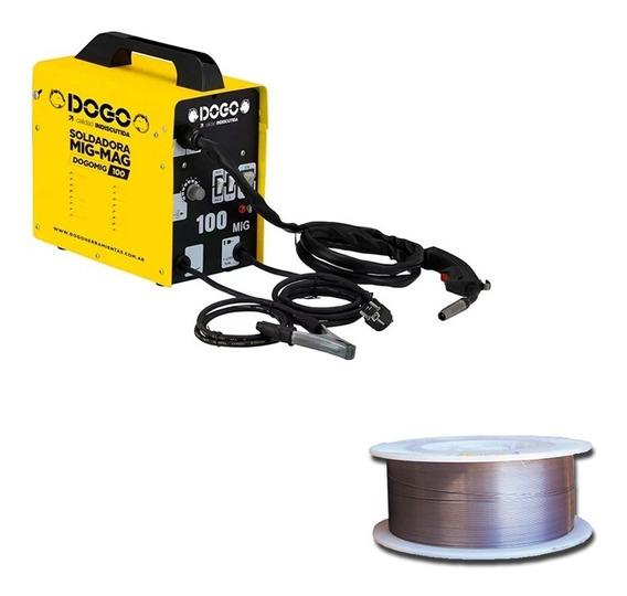 Soldadora Mig-mag Monofasica 100a Dogo+alambre Flux 0,8 1kg