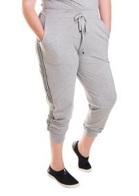 Roupa Feminina Calça Jogger Listra Lateral Plus Size 68/70