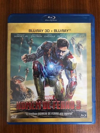 Blu-ray 3d + Blu-ray- Homem De Ferro 3- Semi-novo