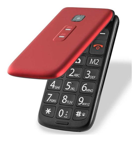 Celular Flip Vita Dual Chip Mp3 Vermelho Multilaser P9021
