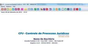 Cpj - Controle Processos Jurídicos