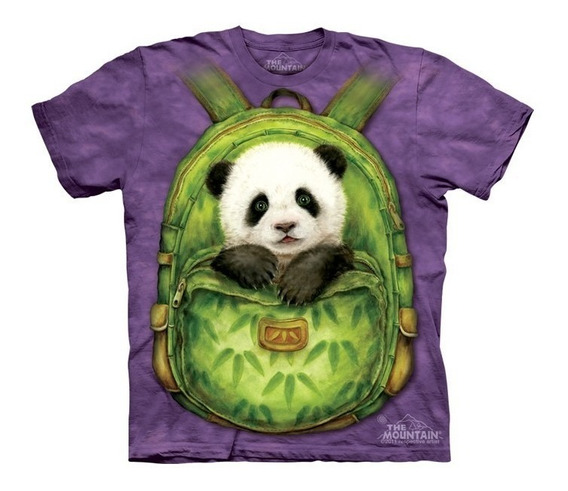 Playera 4d - Unisex Infantiles - 3434 Backpack Panda.