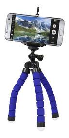 Mini Tripé Flexível Octopus Suporte Celular Go Pro Cameras