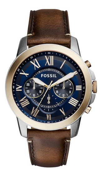 Relógio Fossil Masculino Com Pulseira De Couro Fs5150/5an