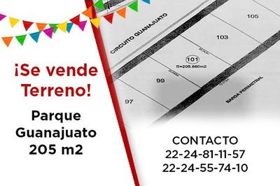 Terreno En Venta 205 M2 Parque Guanajuato Lomas Angelopolis