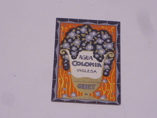 Antigua Etiqueta Agua Colonia Inglesa Griet