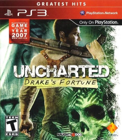 Jogo Uncharted Drakes Fortune Ps3 Mídia Física Original Nath
